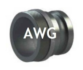 AWG adapters bs 336 male with bsp male thread